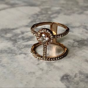 Rose Gold Statement Ring Size 7.5